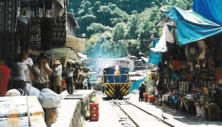 The colorful rail town of Agua Calientes
